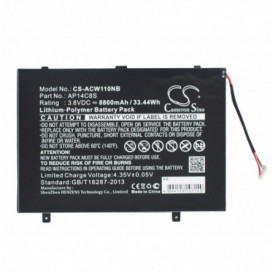 Batterie Acer 8800mAh / 33.44Wh 3,8V compatible Aspire Switch 11, Aspire Switch 11 Pro, SW5-111, SW5-111-102R, SW5-111-13SW,