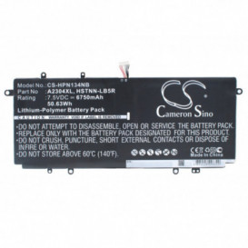 Batterie HP 6750mAh / 50.63Wh 7,5V compatible Chromebook 14, Chromebook 14Q, Chromebook 14-Q000ED, Chromebook 14-Q000SA, Chro