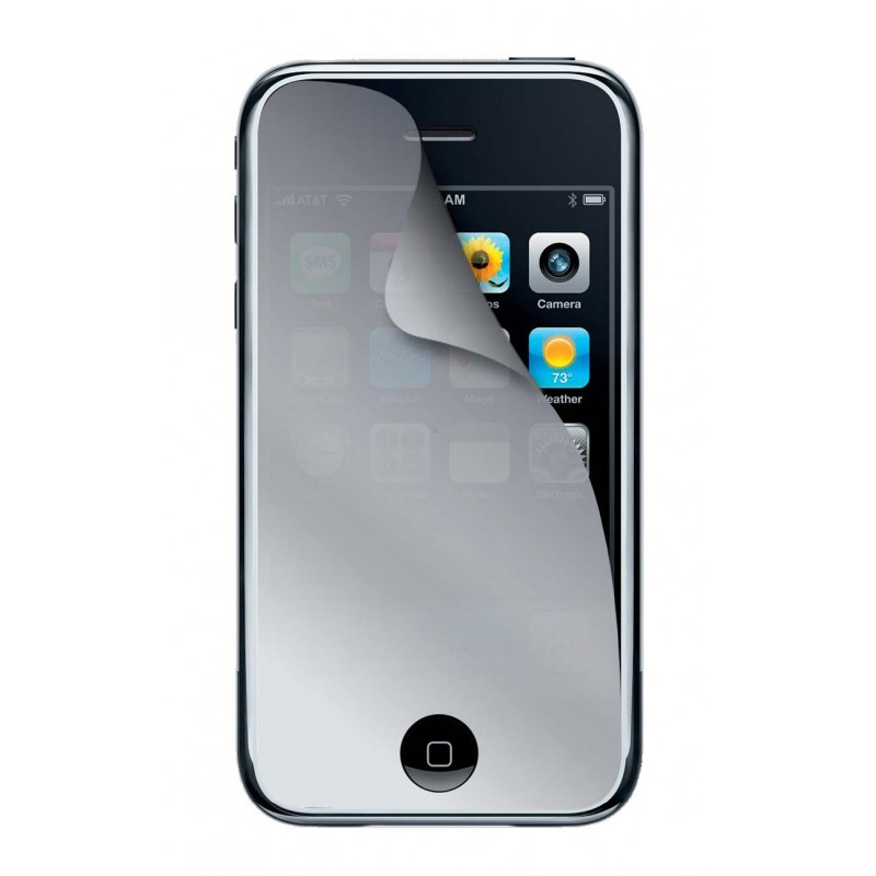 Film protection cran miroir pour iphone 3g 3gs for Application miroir pour iphone