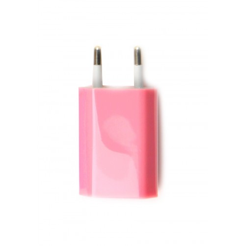 Chargeur iPhone Rose USB : iPhone 3G/3GS/4/4S