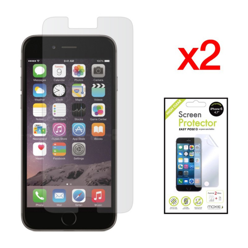 pack 2 films protection cran high clear moxie iphone 6 6s sosav. Black Bedroom Furniture Sets. Home Design Ideas