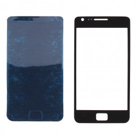 Front glass panel (black) + Stickers - Galaxy S2
