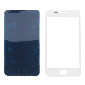 Front glass panel (white) + stickers - Galaxy S2