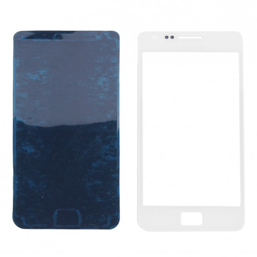 Vitre Tactile Blanche + Stickers - Galaxy S2