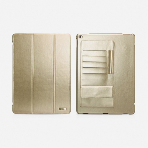 "Icarer Multi-Card Gold Business Leather Case for iPad Pro 12.9 ""(2015)"