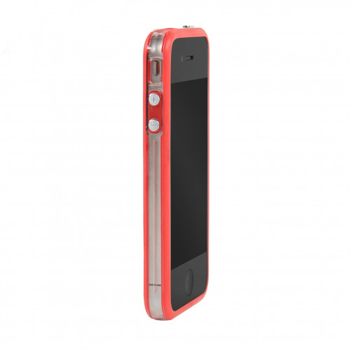 Bumper - Contour TPU Rouge Transparent & Noir IPhone 4 & 4S