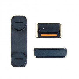 Set of 3 black buttons (Volume, vibrate ring switch, power) - iPhone 5