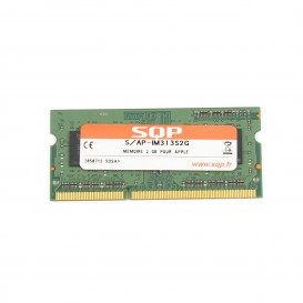 Kit 2 x 2 Go RAM SQP SoDimm DDR3-1333 MHz PC3-10600