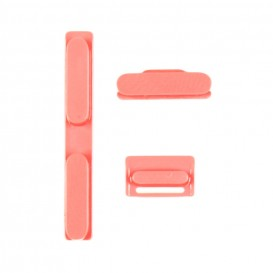 Kit Boutons Rose: Power, Silencieux, Volume - iPhone 5C