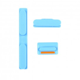 Set of 3 Blue Buttons (Volume, vibrate ring switch, power) - iPhone 5C