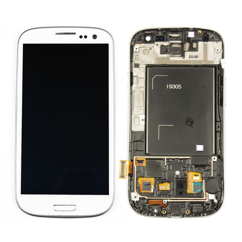 White Screen Lcd Touch Samsung Galaxy S3 Sosav