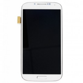 Complete Screen WHITE (LCD + touchscreen + Frame) - Galaxy S4 Advance