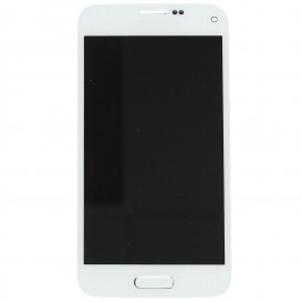 Complete Screen Assembly WHITE (LCD + touchscreen + Frame) - Galaxy S5 Mini