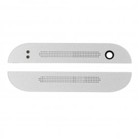 Front Plastic Covers Top/Bottom White - HTC One Mini 2
