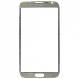 Front glass (grey) + Stickers - Samsung Galaxy Note 2