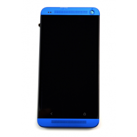 Complete Screen Assembly BLUE - HTC One (M7)
