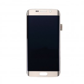 Complete Screen GOLD (LCD + Touchscreen + Frame) + Charging port connector - Galaxy S6 Edge Plus