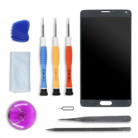 Screen DIY Repair Kit (black) - Galaxy Note 4