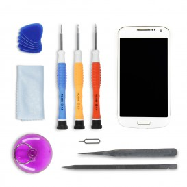 Complete Screen Assembly DIY Repair Kit (white) - Galaxy S4 mini
