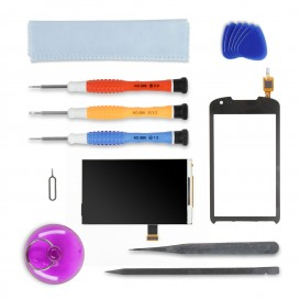 Screen DIY Repair Kit (black) - Galaxy Xcover 2