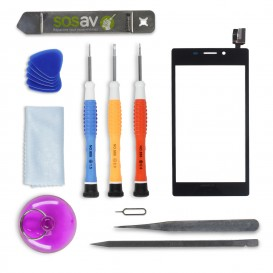 DIY Touch Screen Repair Kit (black) - Xperia M2