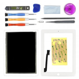 White LCD and touch screen repair kit - iPad 3 / 4