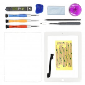 Touch Screen Digitizer and repair kit (White) - iPad 3 / 4