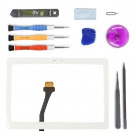 DIY Touch Screen Repair Kit (white) - Galaxy Note 10.1