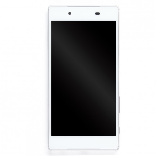 Ecran complet BLANC (LCD + Tactile + Châssis) - Sony Xperia Z5