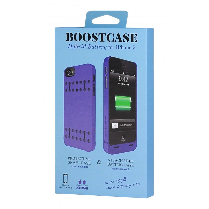 coque batterie amovible mfi boostcase 2200 mah iphone 5. Black Bedroom Furniture Sets. Home Design Ideas