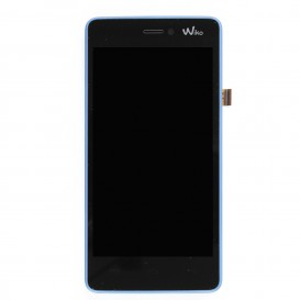 Complete Screen BLUE (LCD + Touchscreen + Frame) (Official) - Wiko Highway Signs