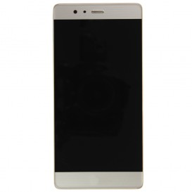 Complete Screen Assembly GOLD (LCD + Touchscreen + Frame) - Huawei P9