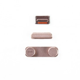 Set of 3 Rose Gold Buttons (Volume, vibrate ring switch, power) - iPhone SE