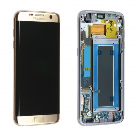 Complete Screen Assembly GOLD (Official)  - Galaxy S7 Edge