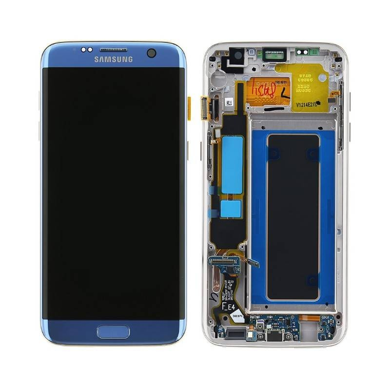 Sosav ecran complet bleu officiel pour galaxy s7 edge for Photo ecran samsung 7