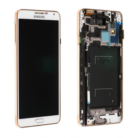 Ecran Blanc/Or Officiel (LCD + Tactile) - Galaxy Note 3