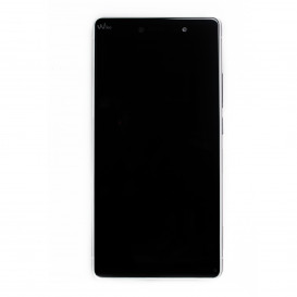 Complete Screen Assembly BLACK (LCD + Touchscreen) + GREY frame (Official) - Wiko Fever Special Edition