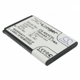 Batterie Nokia compatible 1265, 1325, 2650, 2651, 2652, 3108, 5100, 6066, 6088, 6100, 6101, 6102i, 6103, 6125, 6126, 6131, 61